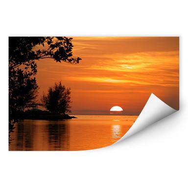 Wallprint See in der Abenddämmerung
