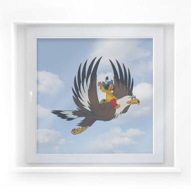 Fensterbild Yakari und Grosser Adler
