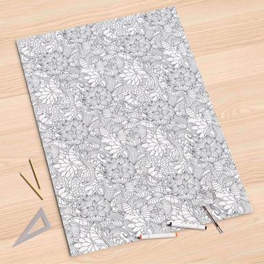 Folienbogen (80x120cm) - Flower Lines 2