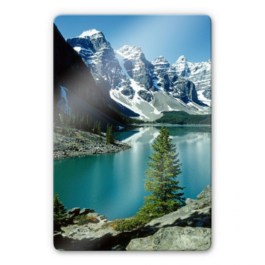 Glasbild Bergsee Idylle