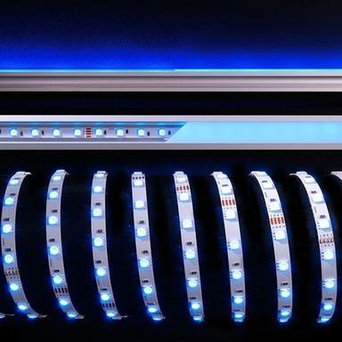 LED Stripe 5050-60-24V-Rgb-5M-Nano in Weiss W 2000lm IP44 8mm