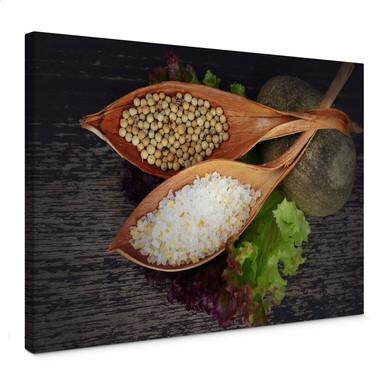 Leinwandbild Salt and Pepper