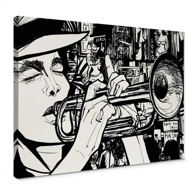 Leinwandbild Sound of a Street Musician