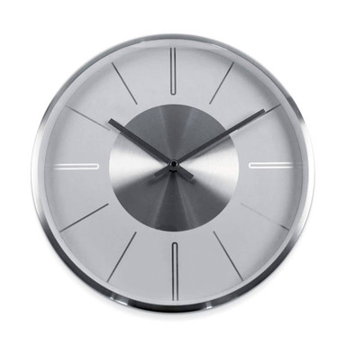 Moderne Wanduhr Aluminium Silber - Rund Ø32cm