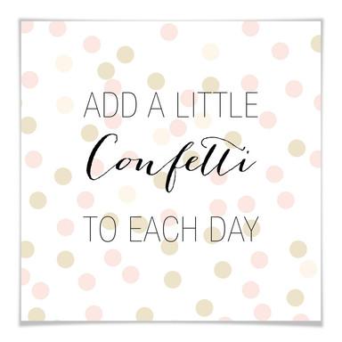 Poster Confetti & Cream - Add a little confetti