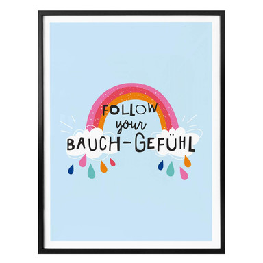 Poster H:)PPY LIFE - Follow your Bauchgefühl