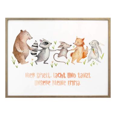 Poster Kvilis - Hier spielt, lacht und tanzt... & Wunschtext