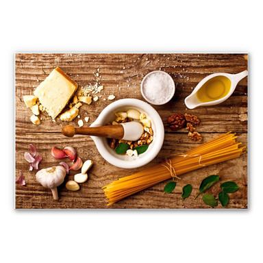 Wandbild Laercio - Pesto Rezept