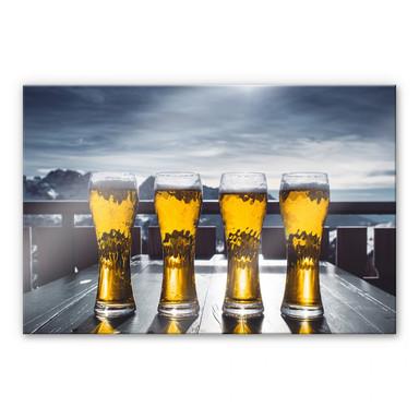 Acrylglasbild Eiskaltes Bier