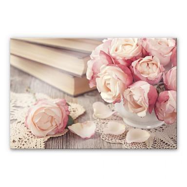 Acrylglasbild Rosa Rosen