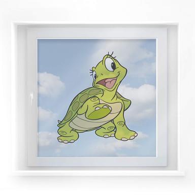 Fensterbild Benjamin Blümchen - Schildkröte Sonja