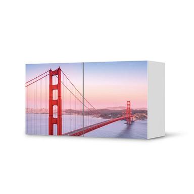 Folie IKEA Besta Regal 2 Türen (quer) - Golden Gate