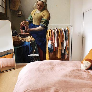 Fototapete Vermeer - Das Mädchen mit dem Milchkrug - 240x260cm - Bild 1