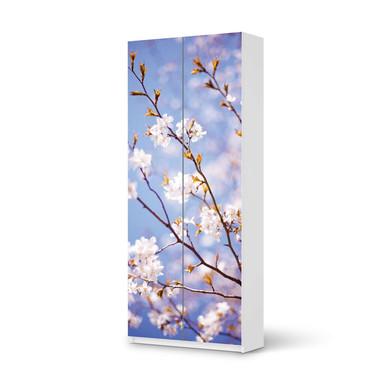 Möbelfolie IKEA Pax Schrank 236cm Höhe - 2 Türen - Apple Blossoms