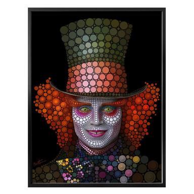 Poster Ben Heine - Circlism: Johnny Depp der Hutmacher