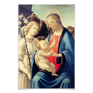 Poster Botticelli - Madonna mit Kind und einem Engel