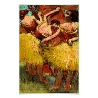 Poster Degas - Drei Tänzerinnen