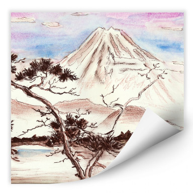 Wallprint Toetzke - Asian Landscape quadratisch