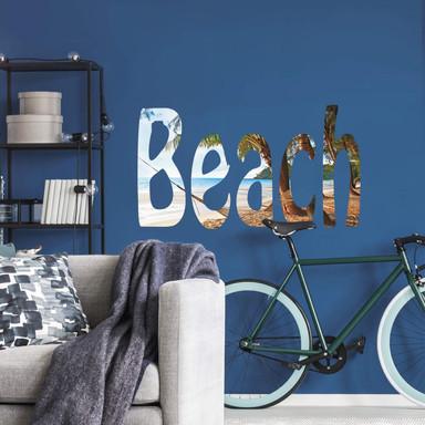 Wandsticker Beach Schriftzug