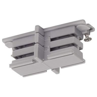 3-Phasen S-Track, Aufbauschiene, Isolier-Verbinder, silber-grau
