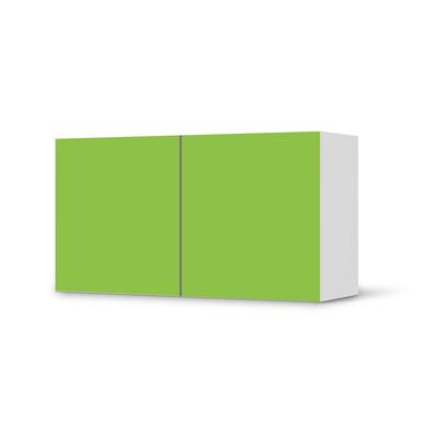 Folie IKEA Besta Regal 2 Türen (quer) - Hellgrün Dark- Bild 1
