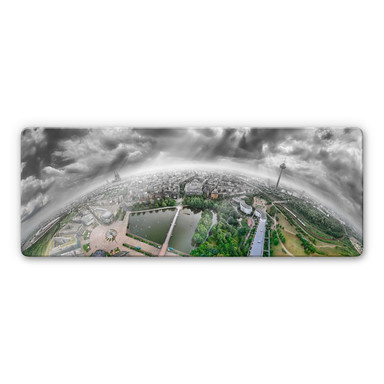 Glasbild Heine - Köln Panorama