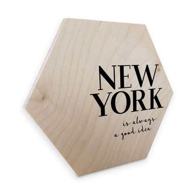 Hexagon - Holz Birke-Furnier - New York