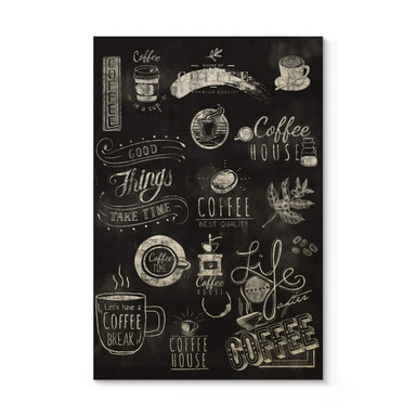 Holzposter World of Coffee
