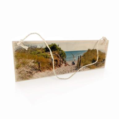 Holzschild Way to the beach