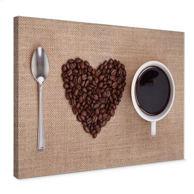 Leinwandbild I love Coffee