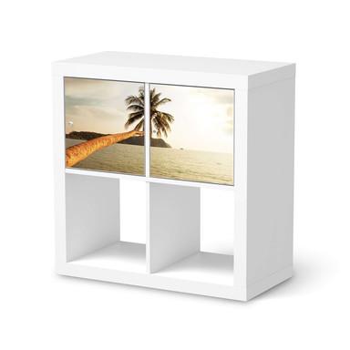 Möbel Klebefolie IKEA Expedit Regal 2 Türen (quer) - Paradise- Bild 1