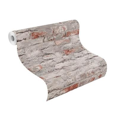 Rasch Vliestapete Andy Wand in Steinwandoptik betongrau