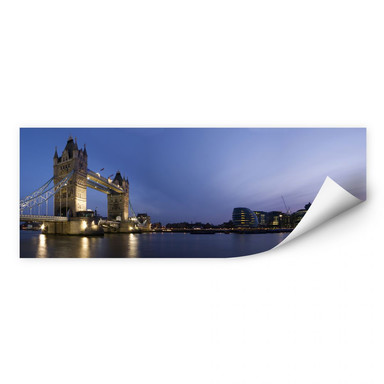 Wallprint Tower Bridge an der Themse - Panorama