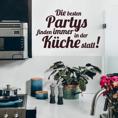 Wandtattoo Die besten Partys…