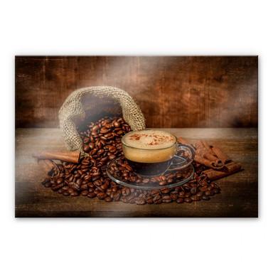 Acrylglasbild Perfoncio - Kaffee rustikal