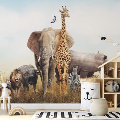 Fototapete Afrikanische Tiere