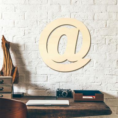 Holzbuchstaben at-Zeichen