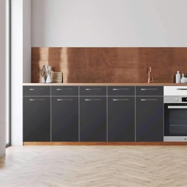 Küchenfolie - Unterschrank 200cm Breite - Grau Dark