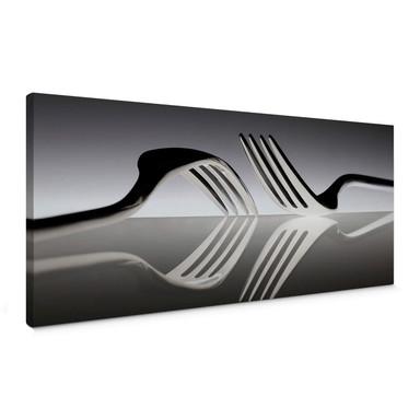 Leinwandbild De Kogel - Silverware Reflection - Panorama