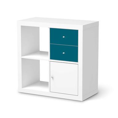 Möbelfolie IKEA IKEA Expedit Regal Schubladen - Türkisgrün Dark