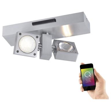 Q-Smart LED Wand- und Deckenleuchte Q-Nemo RGBW inkl. Fernbedienung
