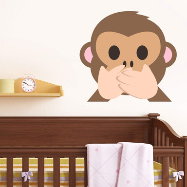 Wandtattoo Emoji Speak No Evil Monkey