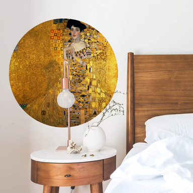 Wandtattoo Klimt - Das Bildnis der Adele Bloch-Bauer - Rund