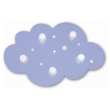 5 flammige Deckenleuchte Wolke in hellblau - Bild 1