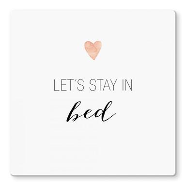 Glasbild Confetti & Cream - Let's stay in bed