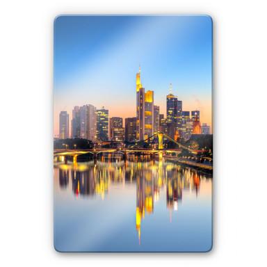 Glasbild Frankfurter Lichter