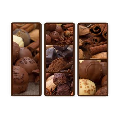 Glasbild Schokoladentraum 03 (3-teilig)