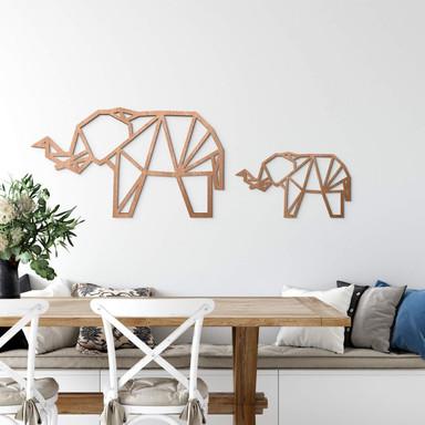 Holzkunst Mahagoni - Origami Elefant