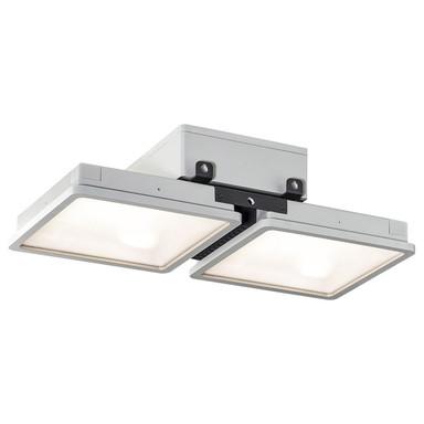 LED Wand- und Deckenleuchte Almino in Grau 2x45W 12000lm IP65