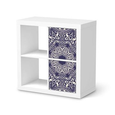 Möbelfolie IKEA Kallax Regal 2 Türen (hoch) - Blue Mandala